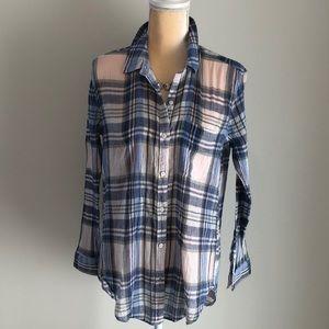 Lucky 🍀 Brand Plaid Crepe Shirt